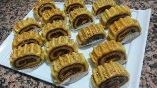 getlinkyoutube.com-مقروط التمر على شكل رولي في الفرن راااائع جدا \حلويات رمضان