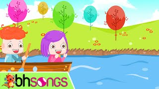 getlinkyoutube.com-Row Row Row Your Boat lyrics with lead vocal | Nursery Rhymes TV | Ultra HD 4K Music Video
