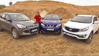 getlinkyoutube.com-Kuga vs. Qashqai vs. Sportage -  Kompakte SUV im Vergleichstest