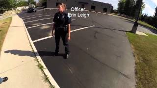 getlinkyoutube.com-Open Carry - New Officer Doesn't Get It - New Holstein, WI