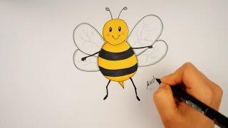 تعليم الرسم للاطفال | تعليم رسم نحلة للمبتدئين خطوة بخطوة - drawing for kids