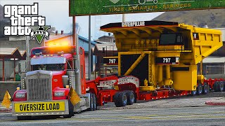 getlinkyoutube.com-American Truck Simulator Heavy Haul Mod LSPDFR Escort in Grand Theft Auto V Online