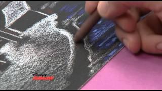 getlinkyoutube.com-Art Attack - Texture Drawing - Sandpaper