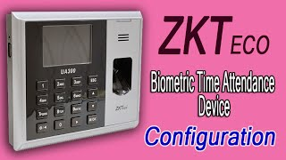 getlinkyoutube.com-How to configure ZKTEco Biometric Attendance Device with ZKTime Software