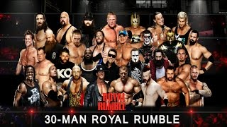 getlinkyoutube.com-WWE Royal Rumble Match 2016 30-Man (WWE World Heavyweight Championship) - Simulation WWE 2K16
