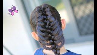 getlinkyoutube.com-Trenza de Pluma - Feather Braid | Peinados Faciles | Peinados con Trenzas