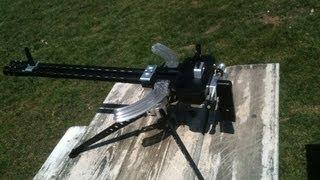 getlinkyoutube.com-Ruger 10-22 Gattling Crank Gun Kit Test