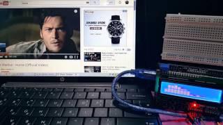 getlinkyoutube.com-VU Meter - 16x2 LCD & Arduino UNO