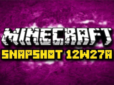 Minecraft 12w27a Snapshot - STACKABLE SIGNS, BOAT UPDATE, and MORE! (HD)
