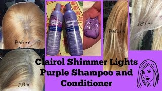 getlinkyoutube.com-Clairol Shimmer Lights Purple Shampoo and Conditioner: Before and after
