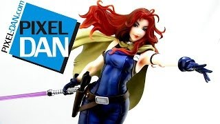 getlinkyoutube.com-Kotobukiya Star Wars Bishoujo Mara Jade 1/7 Scale Statue Video Review