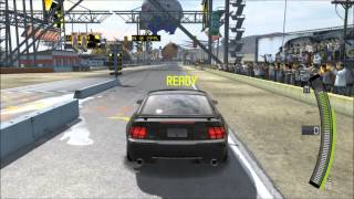 getlinkyoutube.com-2003 Mustang GT Wheelie Competition Crash - NFS: Pro Street