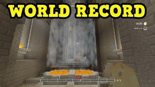 "Minecraft Xbox ""Glide"" Minigame WORLD RECORD STRATEGY"