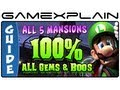 100% Luigis Mansion 2: Dark Moon - Guide & Walkthrough All 65 Gems and 23 Boos + Puzzles!