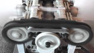 getlinkyoutube.com-Lego Technic Flat V 180º Turbo Engine by Solde