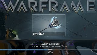 getlinkyoutube.com-Warframe - Zenistar (300 Days Played Reward)