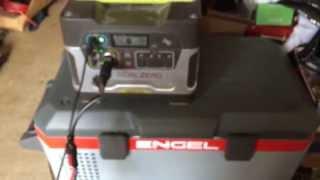 getlinkyoutube.com-Review - Engel Fridge Freezer on a Goal Zero Yeti 400 + 74 Watt Flexible Solarmodul