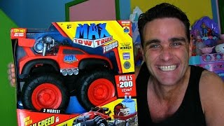 getlinkyoutube.com-Max Tow Truck ! || Toy Unboxing || Konas2002