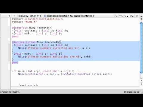 Objective C Programming Tutorial - 48 - Categories