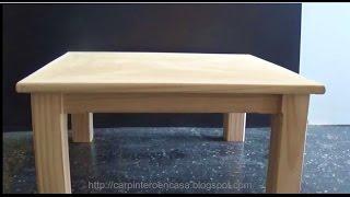 getlinkyoutube.com-COMO HACER UNA MESA DE MADERA   - WOODEN TABLE - PART 2