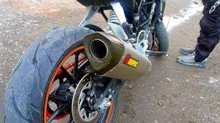 getlinkyoutube.com-Sound Test: AKRAPOVIC Titanium Racing Muffler on KTM Duke 200