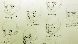 getlinkyoutube.com-How to Draw a Manga Face: 7 Expressions