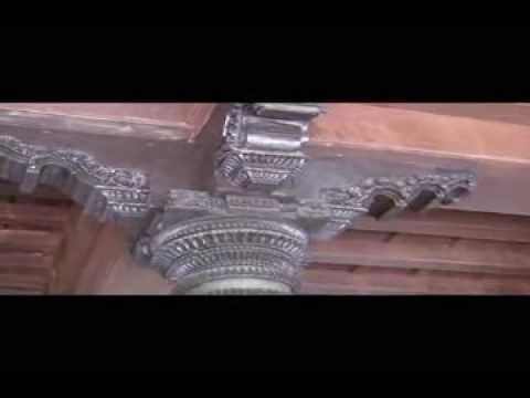 A Magnificient South Indian House Teak Pillar