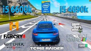 getlinkyoutube.com-i5 6600k vs i5 4690k Test in 6 Games (GTX 1050Ti)