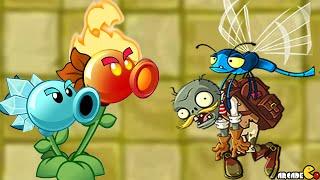 getlinkyoutube.com-Plants vs. Zombies 2 - Temple Of Bloom Challenge Fire Peashooter!