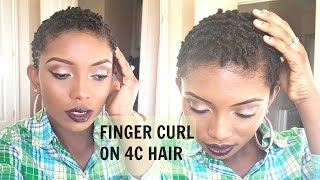 getlinkyoutube.com-Styling My 4C TWA Natural Hair, Finger Curling Routine