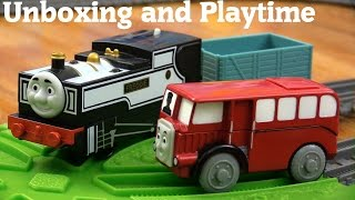 getlinkyoutube.com-Thomas & Friends: All New Trackmaster Fearless Freddie and Wooden Railway Bertie Unboxing