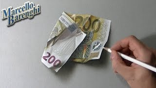 getlinkyoutube.com-How to draw a 200 euro banknote