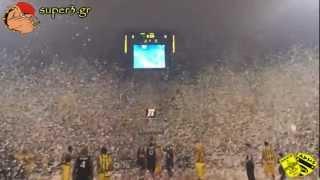 getlinkyoutube.com-Aris Thessaloniki - Superb performance by ARIS' fans