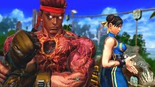[PC] Street Fighter X Tekken - Playthrough as Ryu's Evil Ryu&Chun-Li's Street Fighter Alpha Costume