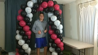 getlinkyoutube.com-How To Make A Balloon Arch Without Helium
