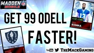 getlinkyoutube.com-How to Get 99 Odell Beckham Jr. FASTER! - Madden NFL Mobile