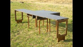 getlinkyoutube.com-オートキャンプ用のアウトドアテーブルの製作How to make outdoor table for camping