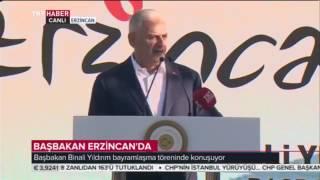 Başbakan Binali Yıldırım, Erzincan'da Bayramlaşma Töreninde Konuştu