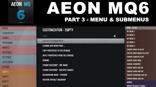 Aeon MQ6 Part 3 Menus & Submenus