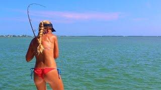 getlinkyoutube.com-Best Girl in Bikini Florida Keys Tarpon Fishing Video