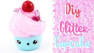 getlinkyoutube.com-♡ DIY GLITTER Cupcake Charm! ♡ | Kawaii Friday