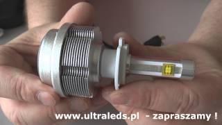 getlinkyoutube.com-Żarówki H7 led jak ksenony - Zestaw LED H7 HID Ksenon.