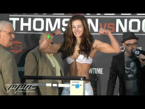 Miesha Tate vs. Ronda Rousey Weigh-In