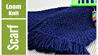 getlinkyoutube.com-EASY LOOM KNIT SCARF Step by Step for Beginners VERY Detailed Round and Long Loom