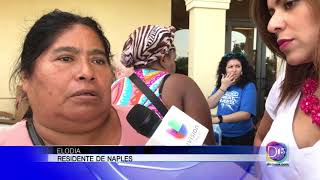Mayela Rosales se fue hasta un centro de recuperación de desastres