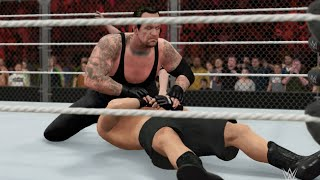 WWE 2K16 (PS4) - The Undertaker vs Brock Lesnar Hell In A Cell Match Gameplay