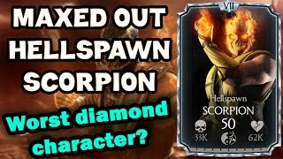 getlinkyoutube.com-Hellspawn Scorpion MAXED OUT in MKX Mobile 1.9. All stats and special moves!