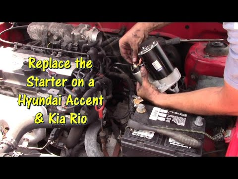 How to Replace a Starter on a Hyundai Accent & Kia Rio by @GettinJunkDone