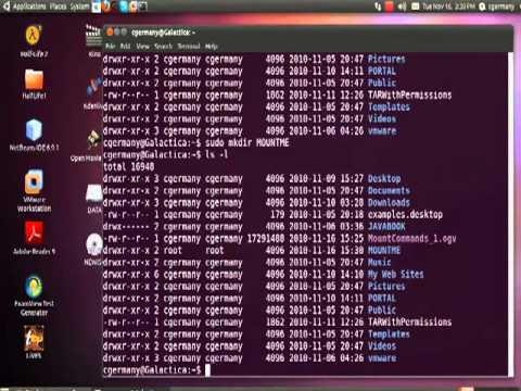 Mounting Linux, Windows and MAC Network Shares in Ubuntu 10.10 Maverick Meerkat - Part 1