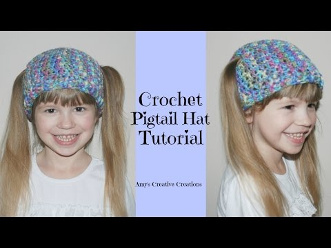 Crochet Pigtail Hat Tutorial